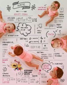 Infografía de bebé de costum por DelaRosaPhotoStudio en Etsy