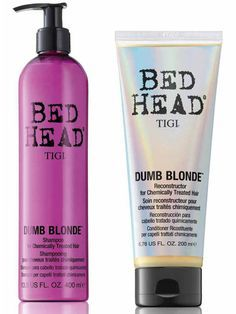 Bed Head Dumb Blonde Reconstructor- This is for EVERYONE not just blondes! This is THE BEST deep conditioner! I use this once a wk on my hair. It says to leave it in for 5-10 mins but I put it in a shower cap and sleep in it overnight. It does wonders for your hair!!! Because it's such a strong deep conditioner you'll need a Clarifying Shampoo to wash it out in the morning. You don't need to spend a lot of money just buy Sauve's Daily Clarifying Shampoo. Your hair will feel AMAZING…