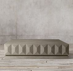 Geometric Faceted Large Square Coffee Table