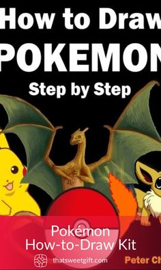 Draw them all! Learn how to draw Pikachu, Eevee, Charizard, Mewtwo and other popular Pokemon characters. Pokemon Gifts, Popular Pokemon, Basic Drawing, Drawing Guide, Drawing For Beginners, Reading Centers, Gamer Gifts, Free Books Online, Charizard