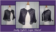 Posh Pooch Designs Dog Clothes: Lady Sybil's Lace Cape Shawl Crochet Pattern and Video | Posh Pooch Designs