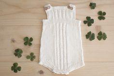 Ullstrikk - The wool knitters blog: KVIT BABY-ROMPER / ANOTHER ROMPER FOR THE BABY