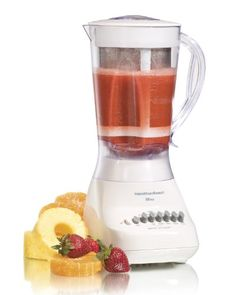 Hamilton Beach Blender with 56 oz Jar  Aguas Fresca Strainer White 50162 ** You can find out more details at the link of the image.