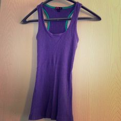 Purple racer back tank top Forever 21 cotton purple racer back tank top. Forever 21 Tops Tank Tops
