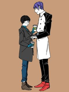"""(not my art. Be either character) If I'm Kaneki: I had work off from the coffee shop today. I sit at a picnic table with my nose in a book. You walk up with two coffees and sit down. """"Hey there"""" You say. If I'm Tsukiyama: I had already stopped by the coffee shop and asked where you were, which ended in a fight with Touka. I picked us up coffee and came to find you. I still had a terrible crush on you and was determined for you to be mine"""