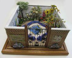 A Stumpwork Garden -- embroidery Garden Embroidery, Ribbon Embroidery, Cross Stitch Embroidery, Embroidery Designs, Embroidery Techniques, Fiber Art, Needlepoint, Needlework, Walled Garden