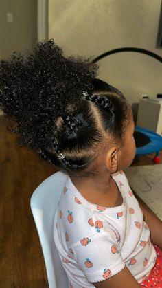 Black Baby Girl Hairstyles, Cute Toddler Hairstyles, Easy Little Girl Hairstyles, Little Girl Braids, Natural Hairstyles For Kids, Kids Braided Hairstyles, Protective Hairstyles, Black Children Hairstyles, African American Girl Hairstyles