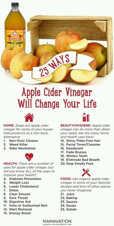 About Apple Cider Vinegar? 25 Life-Changing Uses - Mamavation 25 Ways Apple Cider Vinegar Will Change Your Life. Natural Ways Apple Cider Vinegar Will Change Your Life. Natural Health Remedies, Natural Cures, Herbal Remedies, Home Remedies, Natural Health Products, Arthritis Remedies, Diabetes Remedies, Natural Foods, Natural Healing