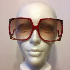 Beautiful red vintage sunglasses