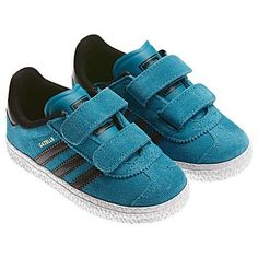 Gazelle 2 CF I Toddler in Turquoise/Black by Adidas adidas. $38.00