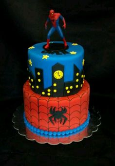 Spiderman cake; awesome.