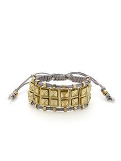 Grey & Gold Rocker Stud Bracelet by Shashi on Gilt