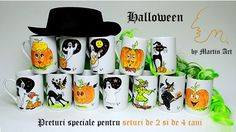 Hand painted by an artist, each Halloween mug is unique! You can choose from a wide selection of designs, may you want something joyful, scarry or for your children!