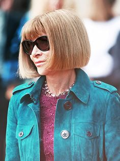 Anna Wintour arrives at the Prorsum Spring/Summer 2015 show in London's Kensington Gardens
