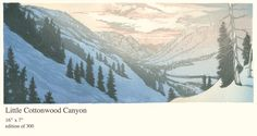 woodblock print - Little Cottonwood Canyon by Matt Brown
