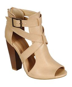 Look at this Bamboo Sand Cutout Mash Pump on #zulily today!
