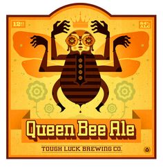 Tough Luck Beer Labels by Graham Erwin, via Behance