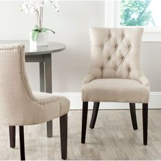 safavieh en vogue dining abby antique gold dining chairs set of 2 by safavieh