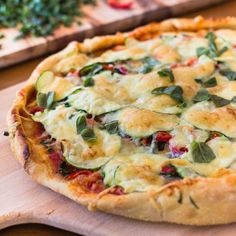 Farmer's Market Pizza - 1000x better, cheaper and healthier than takeout! So easy you'll want to make it every night!