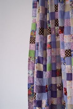 patchwork curtains, or use a quilt for a curtain