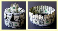 Money Crowns are exclusive gifts for Bride and Groom  on their wedding or engadement day. Available upon request with any denomination of dollars. For price and ordering please text, message or call Margarita @ 818-903-2202.