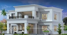 4 bedroom Colonial type flat roof house in an area of 2900 square feet by Hirise Architects & Engineers from Calicut, Kerala. 4 bedroom Colonial type flat roof house in an area of 2900 square feet by Hirise Architects & Engineers from Calicut, Kerala.