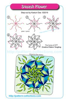 News, new patterns, videos, and template of the week – pattern-collections.com Zentangle Drawings, Doodles Zentangles, Doodle Drawings, Easy Drawings, Zen Doodle Patterns, Doodle Art Designs, Zentangle Patterns, Tangle Doodle, Tangle Art