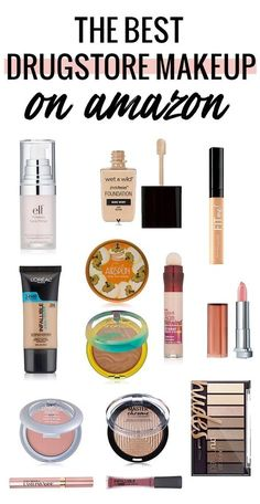 Did you know most that drugstore makeup is cheaper on Amazon? These are the must haves! #beauty #makeup #makeupgoals #drugstore #drugstoremakeup