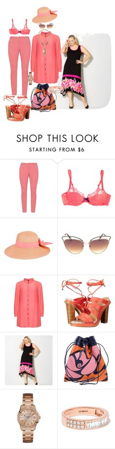 """Cool as a Cucumber"" by blujay1126 ❤ liked on Polyvore featuring Zizzi, Agent Provocateur, Nine West, Manon Baptiste, Calvin Klein, Avenue, Miu Miu, GUESS, Anita Ko and Jules Smith"