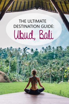 A destination guide with everything you need to know about visiting Ubud in Bali!