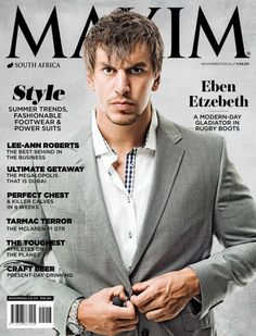 All the issues of Maxim South Africa on our Newsstand. Get the subscription to Maxim South Africa and get your Digital Magazine on your device. Eben Etzebeth, Gemini Girl, Gemini Gemini, Maxim Magazine, Lee Ann, Summer Trends, Videos Funny, Rugby, Dumb And Dumber