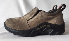 MERRELL JUNGLE MOC SUEDE LEATHER KIDS CLASSIC TAUPE SLIP ON SHOES SZ 10.5 $50 #Merrell