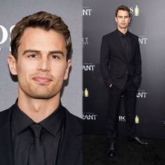 """NEW photos of Theo James at the 'Allegiant' premiere in New York City today! (HQ) •