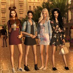 Sims2City: Girl's power posebox