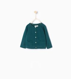 Garter stitch jacket-Cardigans and Sweaters-Baby girl | 3 months - 3 years-KIDS | ZARA United States