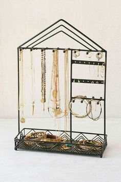 Shop Triangle-Trim Jewelry Stand at Urban Outfitters today. Vanity Organization, Jewelry Organization, Urban Outfitters, Jewelry Stand, Jewelry Holder, Earring Holders, Jewellery Storage, Jewellery Display, Diy Regal