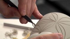 Pottery Video: Carving with Care - How to Carve Exquisite Patterns on a ...