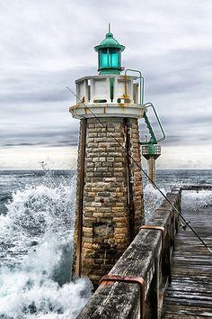 Capbreton Estacade Sud Lighthouse, Nouvelle-Aquitaine, Capbreton, France