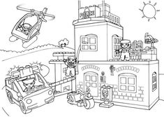 Lego City Coloring Pages . 30 Unique Lego City Coloring Pages . Lego City Coloring Pages People Coloring Pages, Lego Coloring Pages, Free Printable Coloring Pages, Coloring Pages For Kids, Coloring Sheets, Coloring Books, Kids Coloring, Lego Polizeistation, Lego Cars