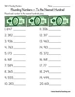 Printables Rounding To The Nearest Hundred Thousand Worksheets the ojays rounding and to on pinterest worksheets worksheet free activities printables for kids
