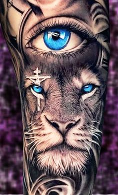 Religious Tattoo Sleeves, Lion Tattoo Sleeves, Wolf Tattoo Sleeve, Tribal Sleeve Tattoos, Best Sleeve Tattoos, Forearm Tattoo Men, Red Ink Tattoos, Rose Tattoos For Men, Card Tattoo Designs
