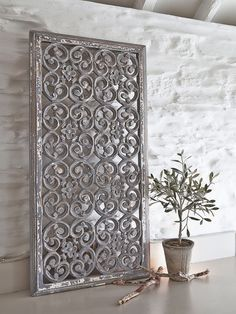 These beautiful rectangular grey carved wooden wall panels will add pattern and texture to your home.