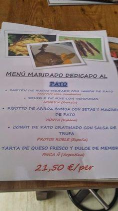 GASTRONOMÍA EN ZARAGOZA: Menú Maridado dedicado al Pato en el Restaurante T...