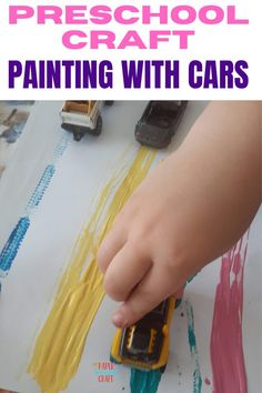Preschool craft painting with cars to learn the ABCs or the 123s, Enaging toddler crafts to help your toddler be creative and have fun, abc crafts, 123 crafts, preschool crafts, preschool activities, learning activities Abc Crafts, Crafts To Do, Preschool Activities, Paper Crafts, Easy Toddler Crafts, Toddler Preschool, Toddler Activities, Learning Shapes, Learning Colors