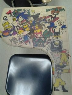 I would sit this desk everyday in class, then steal it at the end of the year.