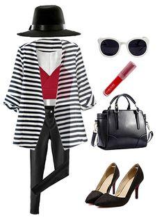 Black And White Stripes Blazer | Choies