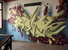 Amazing Graffiti by Italian street artist Peeta. Italian artist Manuel Di Rita – Peeta, creates amazing effect that makes the paintings look like hovering. Graffiti Writing, Graffiti Artwork, Graffiti Wall, Murals Street Art, Street Art Graffiti, Graffiti Wildstyle, Beautiful Graffiti, Floor Murals, Wall Murals