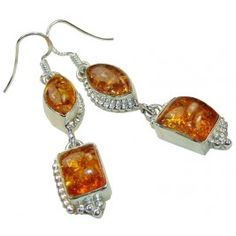 You will not want to take off this beautiful amber earrings.