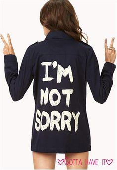 Gotta Have It: I'm Not Sorry Jacket - http://prombelles.com/2014/01/06/gotta-im-sorry-jacket/