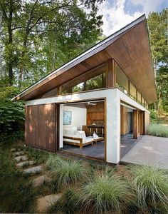 Modern Small House Design, Modern Shed, Shed Design, Dream House Exterior, Prefab Homes, Tiny Homes, Modern Architecture, Beautiful Architecture, Indoor Outdoor